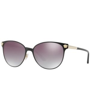 fd4920b161f3 Versace Glam Medusa 57Mm Cat Eye Sunglasses - Gold  Black Gradient Mirror  In Matte Black