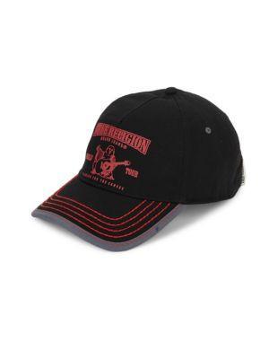 cd5392ee17110 True Religion Puff Buddha Cotton Baseball Cap In Black
