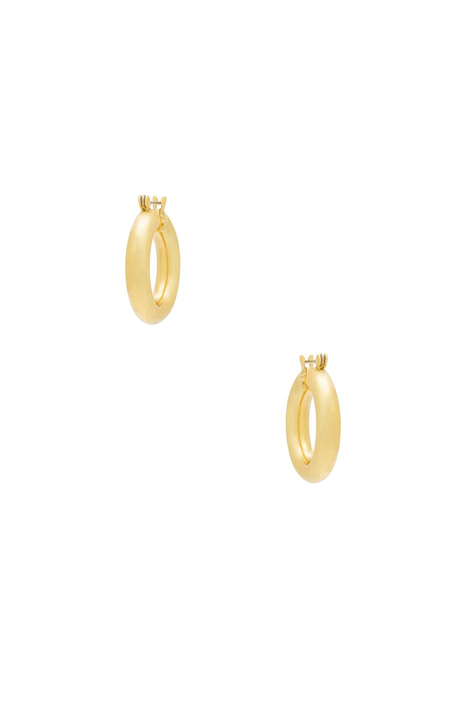 b021fb99e84a0 The Baby Amalfi Tube Hoops in 14K Antique Gold