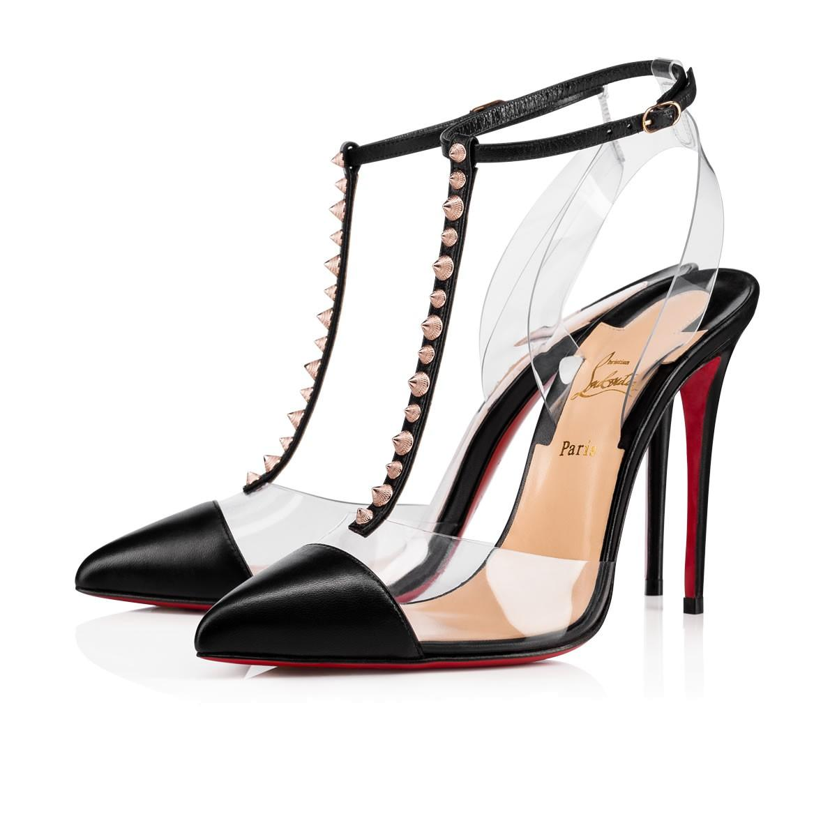 33dd16236ff5 Christian Louboutin Nosy Spikes Pvc   Leather Pumps - Vers Black ...