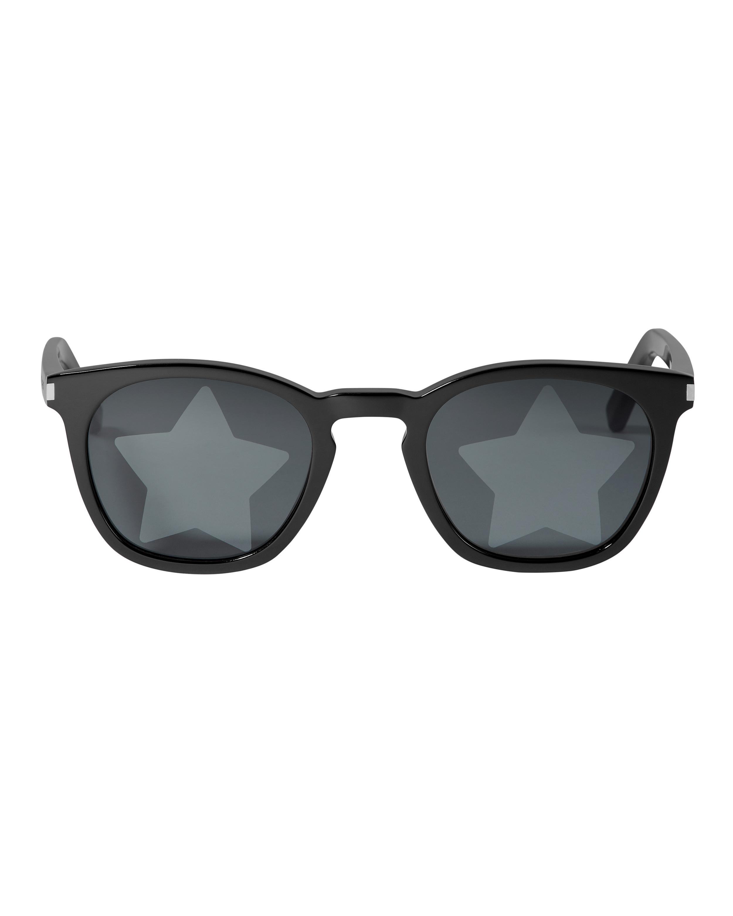 d8a05e3736c Saint Laurent Square Acetate Star-Lens Sunglasses In Black | ModeSens
