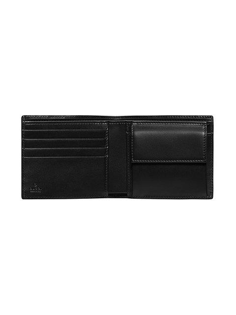 104898b506c4 Gucci Signature Web Wallet With Id Window In Black | ModeSens