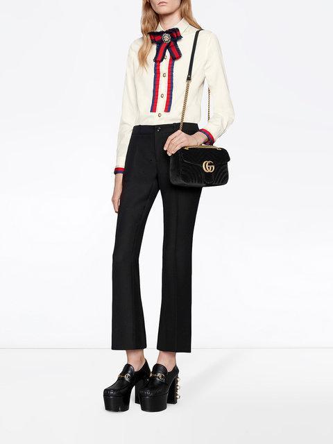 Gucci Gg Marmont Matelasse Velvet Mini Black