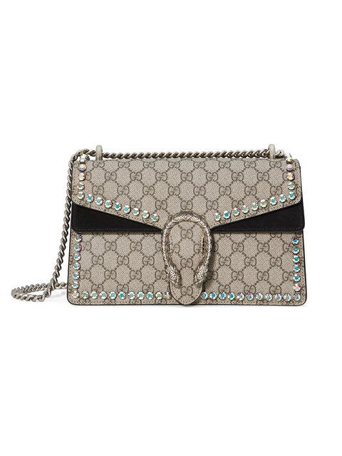 8aec8ae790 Gucci Dionysus Gg Supreme Small Coated Canvas Shoulder Bag In 8144 Beige