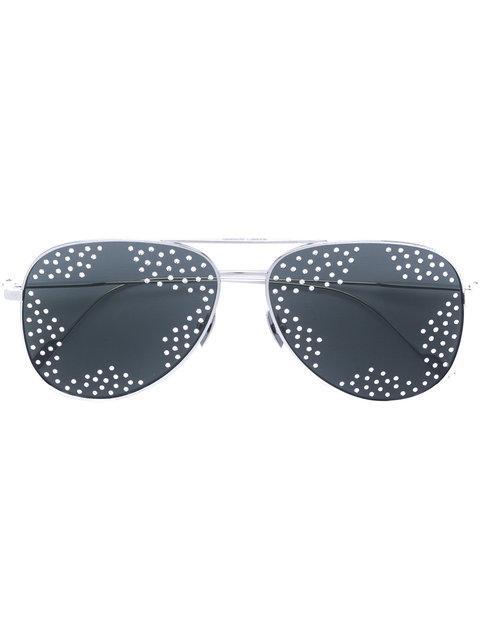 d3ed600f6 Saint Laurent Eyewear Star Stud Sunglasses - Metallic | ModeSens