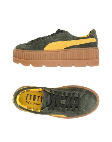 cfec6cea0d8 Fenty X Puma 40Mm Cleated Creeper Suede Sneakers In Green