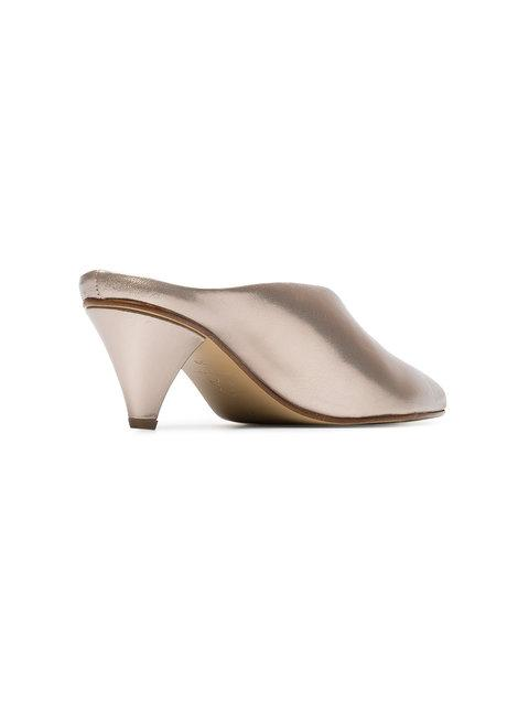 Atp Atelier Gold Nicola 55 Leather Mules - Pink