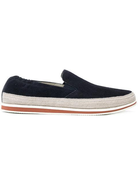 better terrific value crazy price Prada Laceless Jute Sneakers - Blue