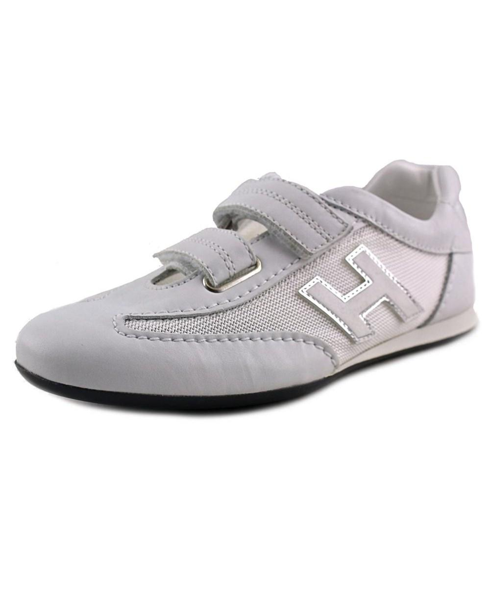 Hogan Olympia Splash Donna Round Toe Leather Sneakers In White ...