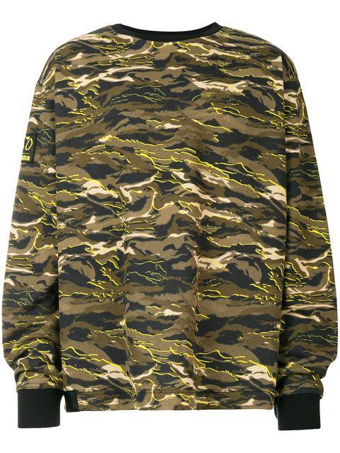 49b7524467ad Puma X Xo Oversized Crew Neck Sweatshirt In Camo 57534751 - Green In 51  Green Camo