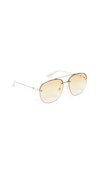 26a75d440717 Gucci Urban Web Block Glitter Aviator Sunglasses In Gold Yellow. Shopbop