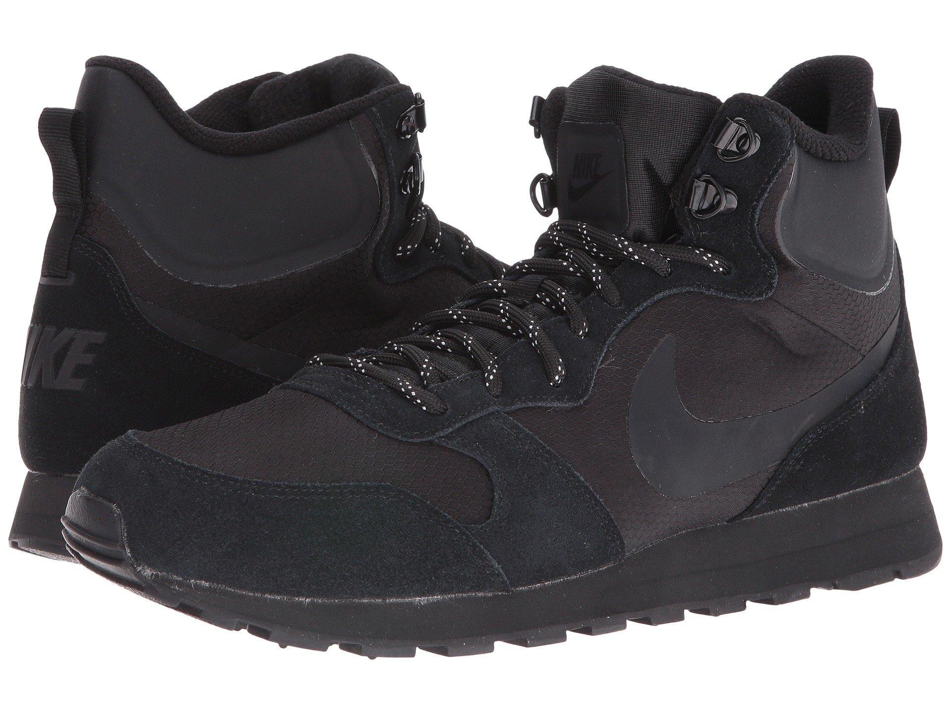 hogar Albardilla Pato  Nike Md Runner 2 Mid Premium, Black/black/black | ModeSens