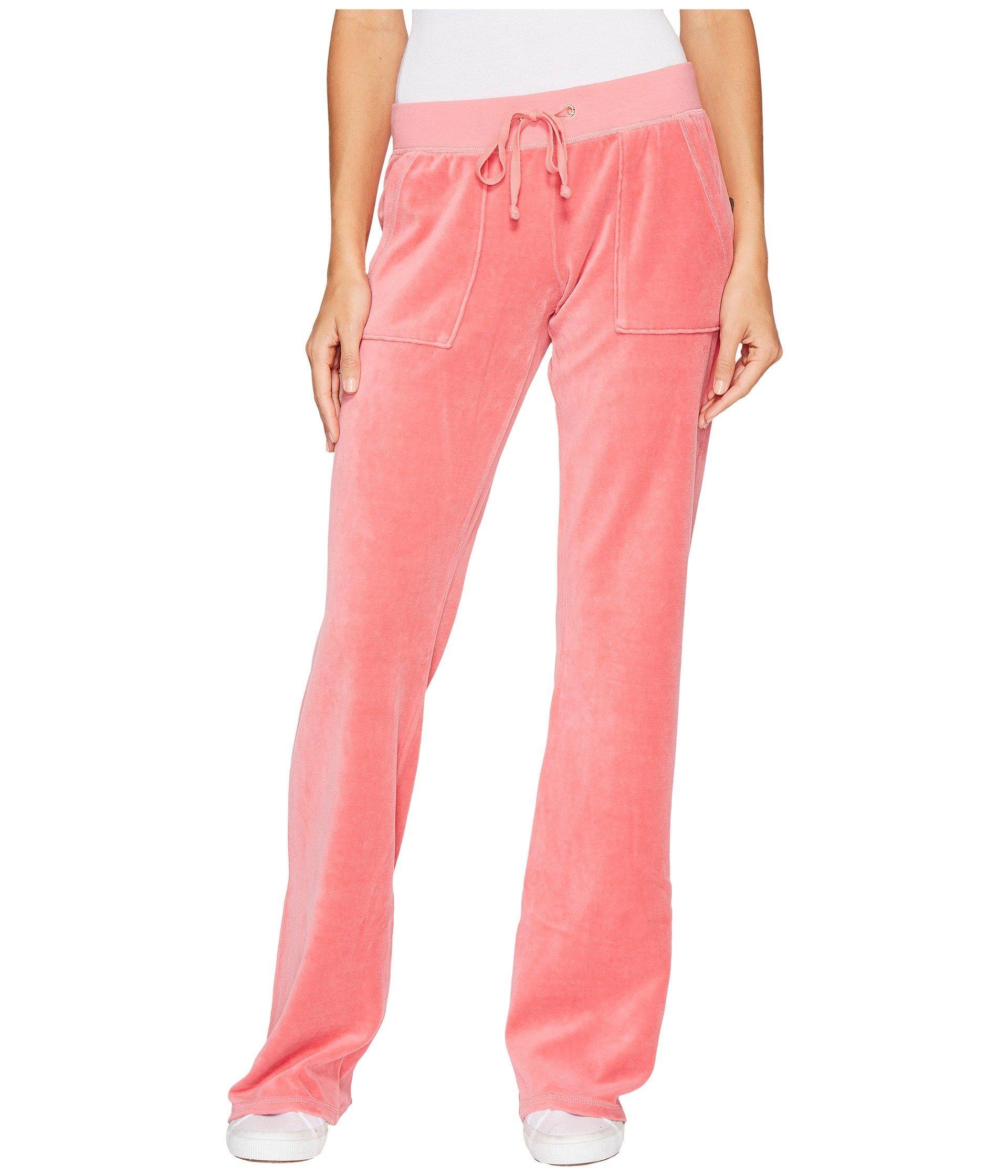 Juicy Couture Del Rey Velour Pants In Frozen Strawberry Modesens