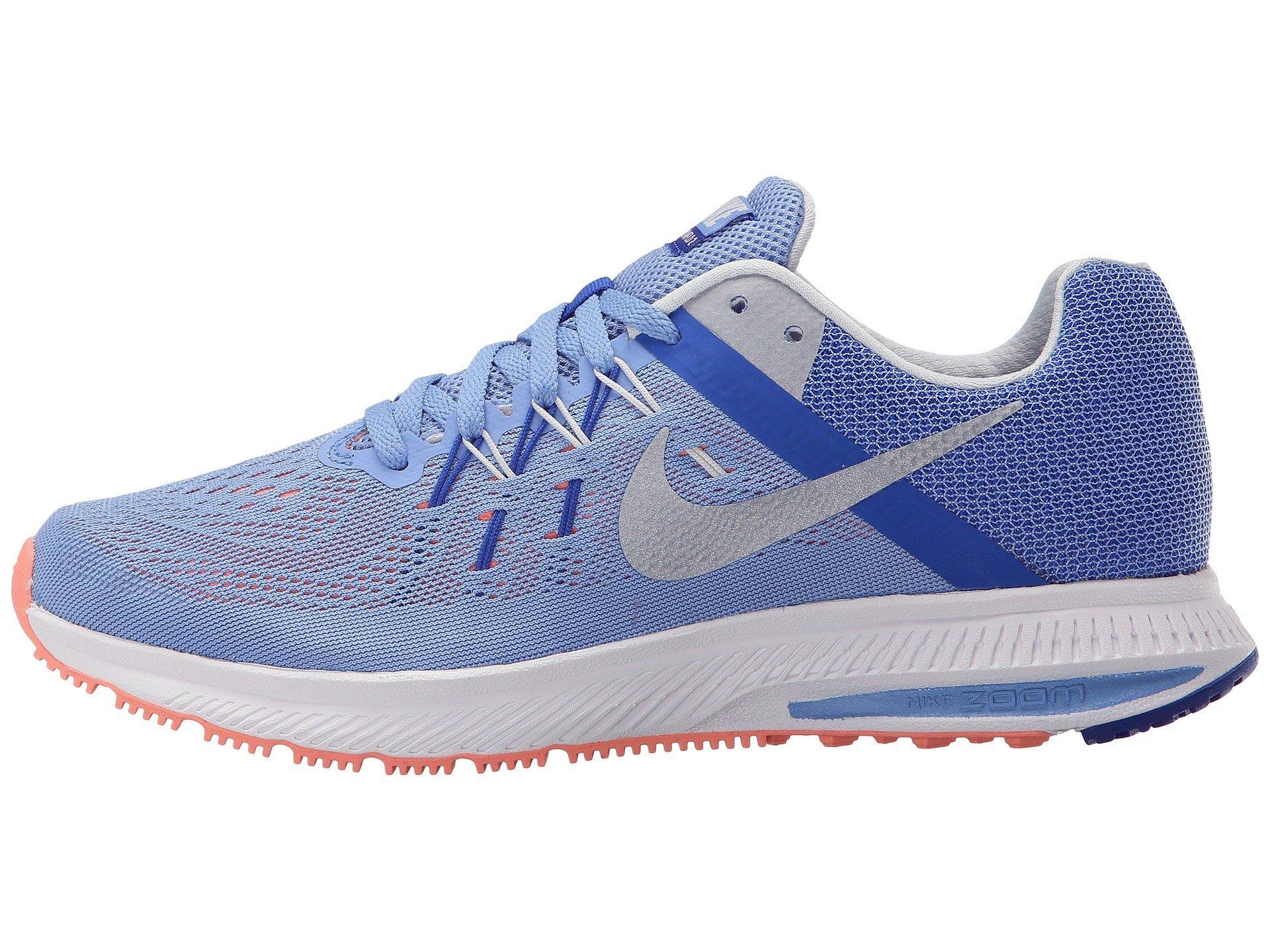 Atomic Pink Nike Air Zoom Winflo 2 Nike , Chalk Blue/racer Blue/atomic Pink/metallic Platinum | ModeSens