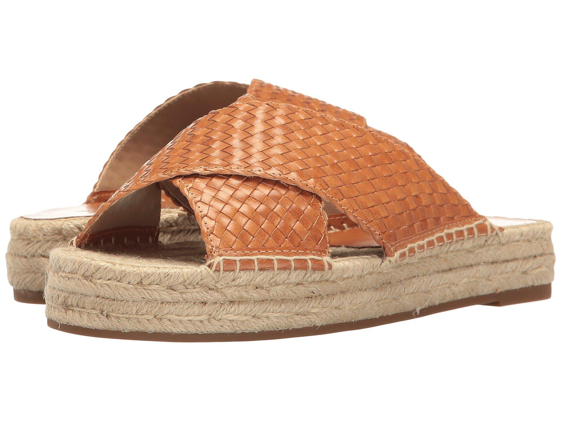 21f0b16badb251 Michael Kors Destin Woven Leather Espadrille Platform Slide Sandals In  Rattan