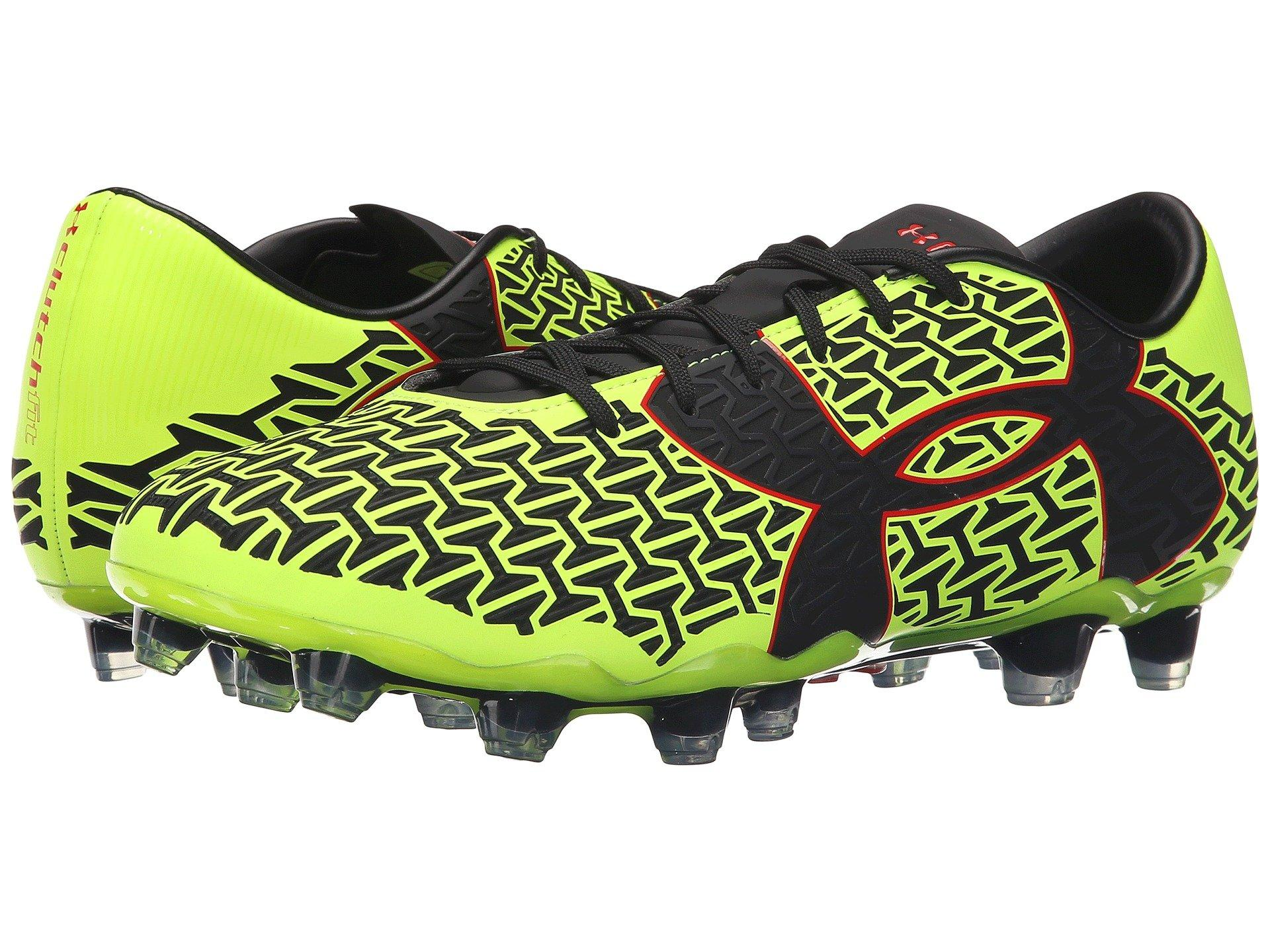 6bbaf1c22263 Under Armour Ua Clutchfit™ Force 2.0 Fg, High-Vis Yellow/Rocket Red ...