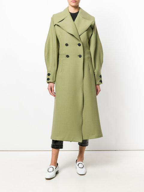 Beaufille Ono Double Breasted Coat - Green