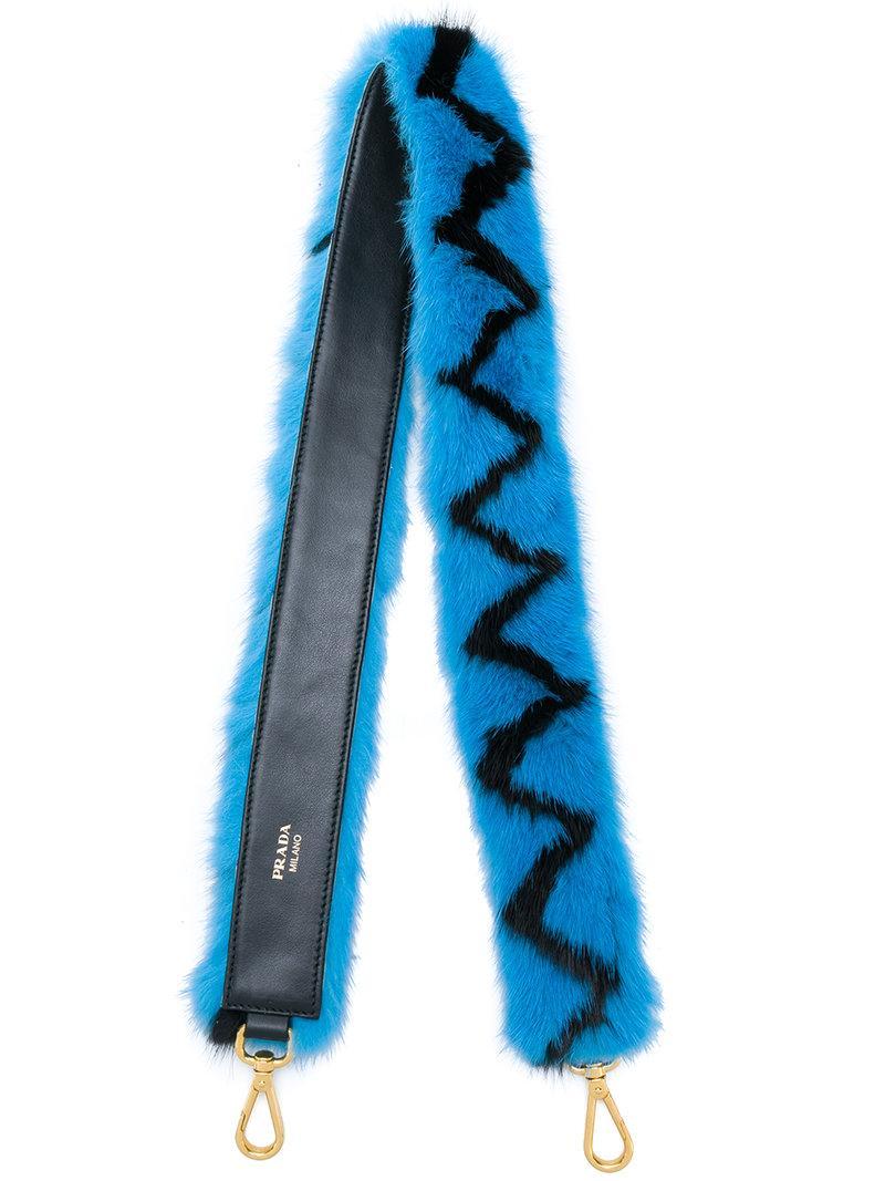 aab578525f88 Prada Zig Zag Bag Strap - Blue