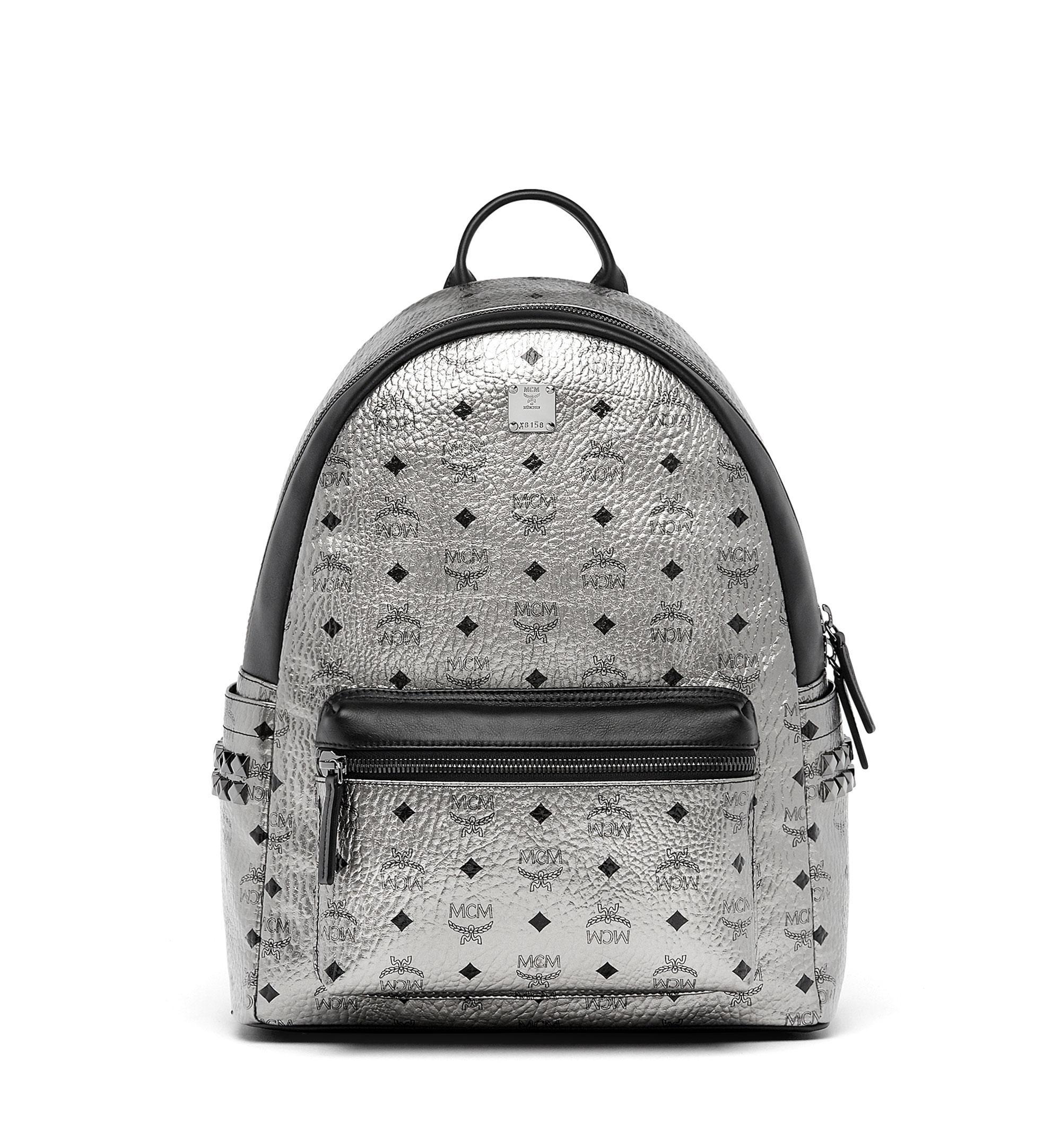 Medium Stark Backpack In Silver By Mcm In Sv