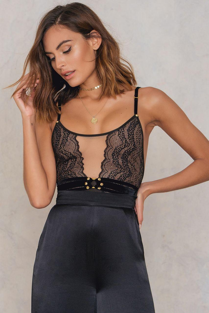 For Love /& Lemons Evie Lace Bodysuit NWT SMALL