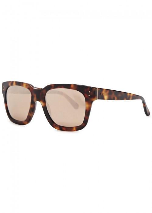 d68fb653800 Linda Farrow Luxe 71 Tortoiseshell Square-Framed Sunglasses In Rose ...
