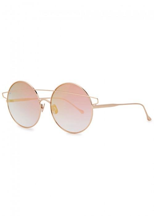 a6aa7b9fa0d For Art s Sake Mykonos Rose Gold Tone Round Sunglasses