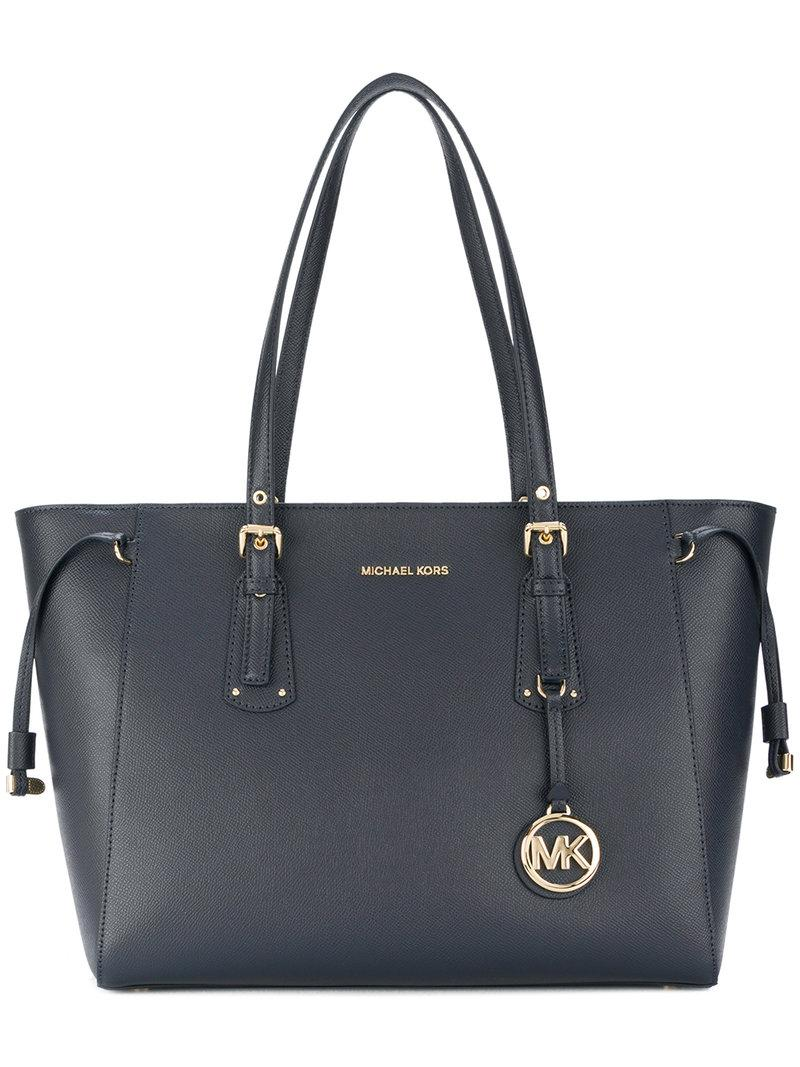 965d2f715afd Michael Michael Kors Voyager Multi-Function Top Zip Medium Leather Tote In  Blue