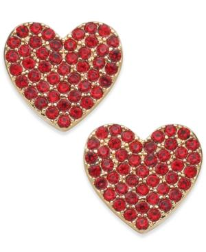 78f2f1a47e1ea Kate Spade Yours Truly Pave Heart Stud Earrings In Red