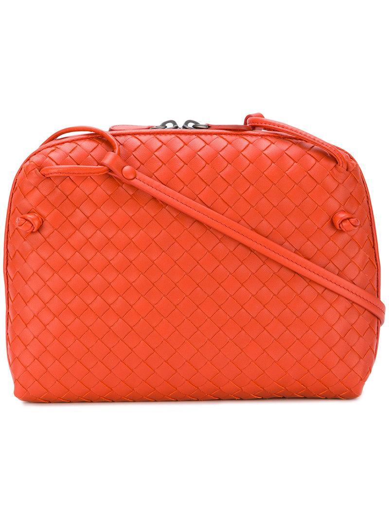 13282b7936 Bottega Veneta - Olimpia Intrecciato Leather Shoulder Bag - Womens - Orange