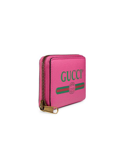 GUCCI PRINT LEATHER CARD CASE,4963190GCAT12562689