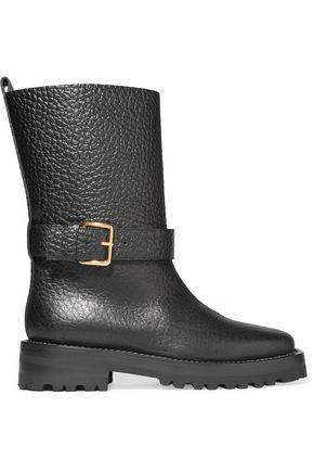 e9a019fa21b3 Marni Woman Textured-Leather Boots Black