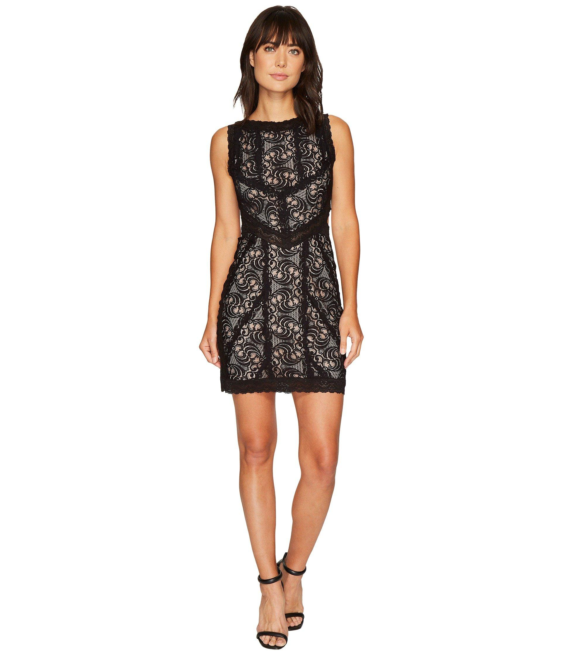9bbef59a08 Nicole Miller Queen Of The Night Stretch Lace Mini Dress
