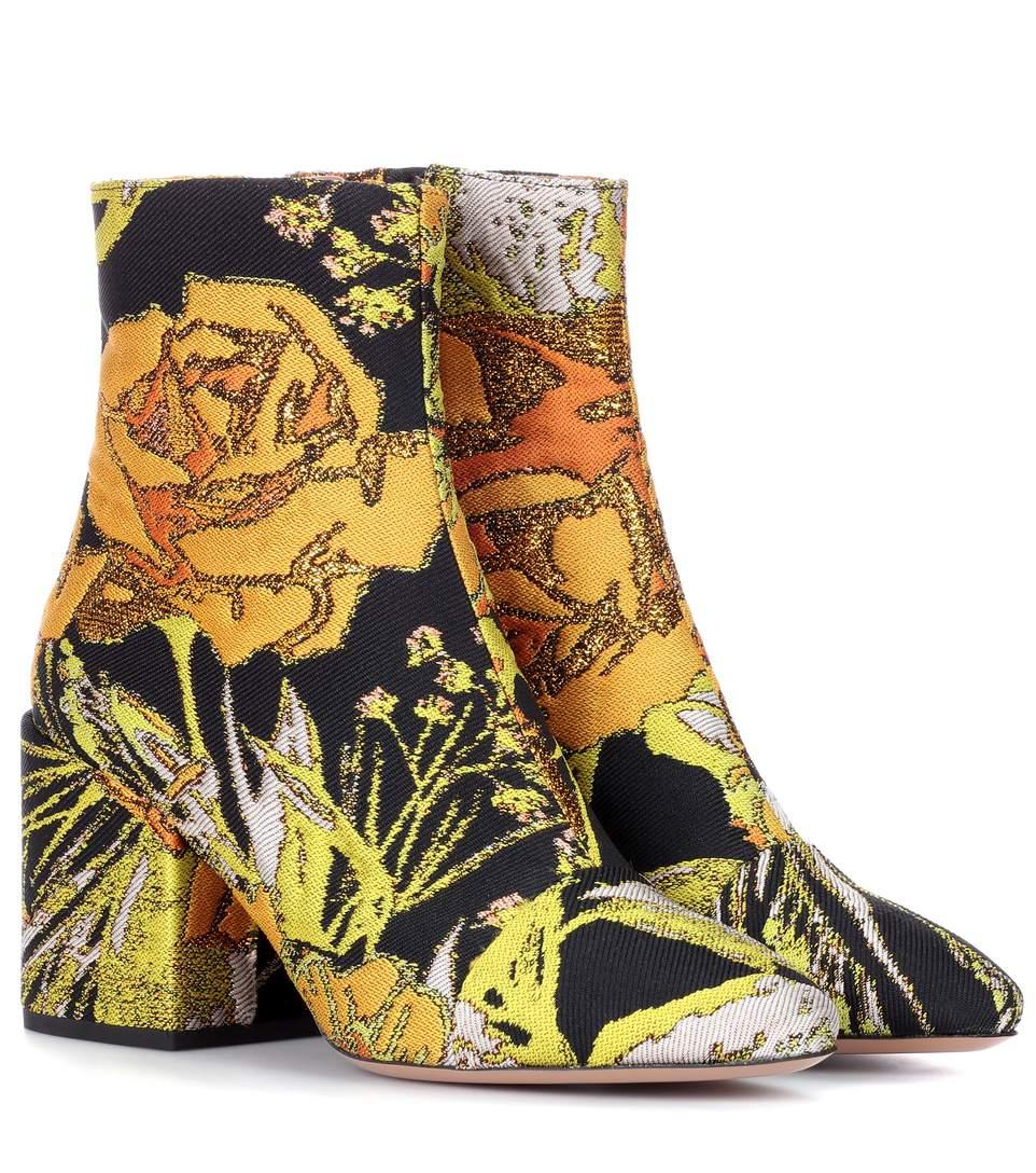 00160e56745b3c Dries Van Noten Floral Jacquard Ankle Boots In Multicoloured