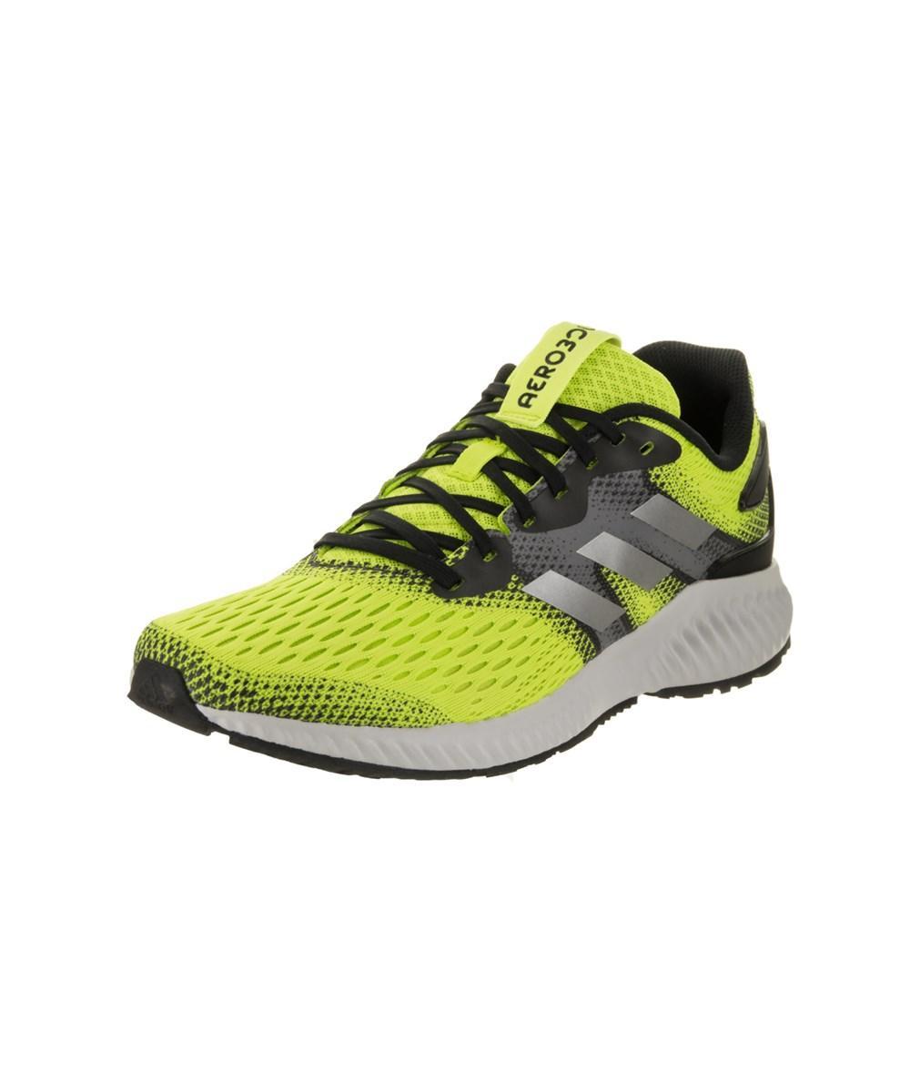 Adidas Men's Aerobounce M Running Shoe In Neon Green/grey/black