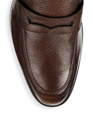 66409571524 Bally Men s Relon Leather Penny Loafer Drivers In Brown