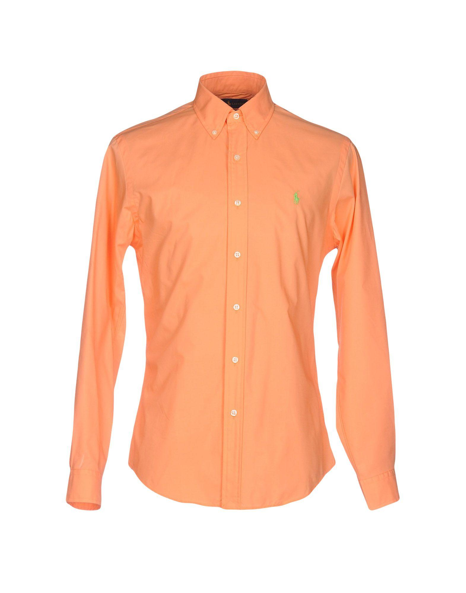 9dfe37f0 Ralph Lauren Solid Color Shirt In Salmon Pink | ModeSens