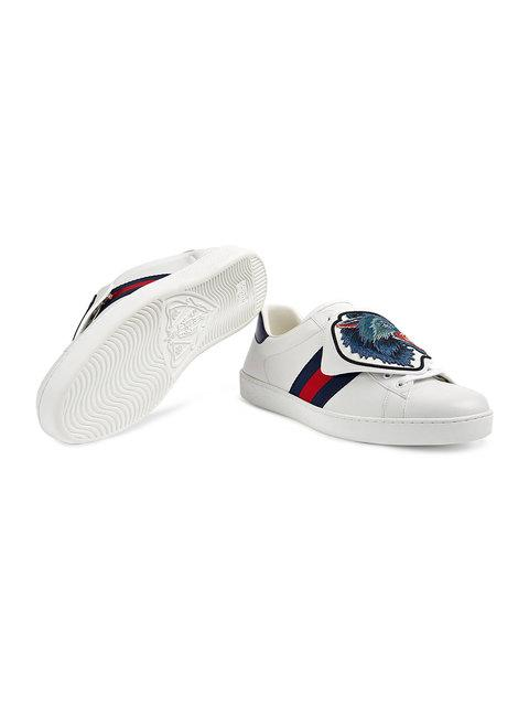 GUCCI ACE SNEAKERS WITH REMOVABLE PATCHES,4971300FI1012563126