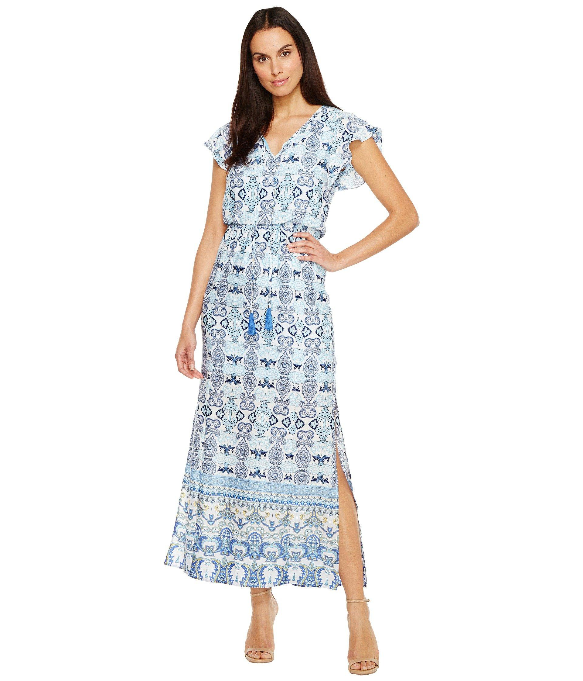 0f54285ed09 Adrianna Papell Plus Paisley Maxi Dress In Blue Multi