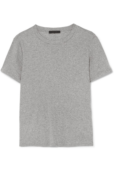 f593d59c12697 The Row Wesler Cotton-Jersey T-Shirt In Gray