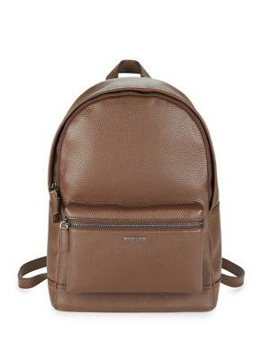 c7c564e166fb Michael Kors Bryant Pebble-Textured Leather Backpack In Mocha | ModeSens