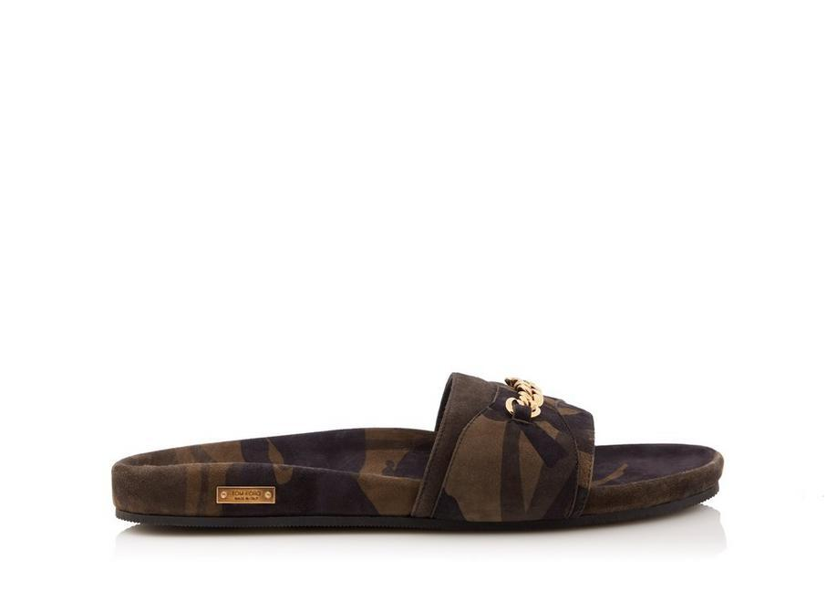 aa8f520183e9 Tom Ford Camouflage Churchill Chain Sandals In Taupe