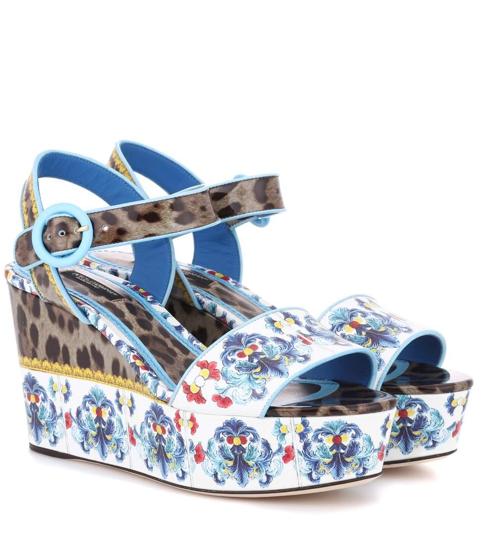 21b6d2dc80b Dolce   Gabbana Majolica   Leopard Print Flatform Sandal In Multicoloured