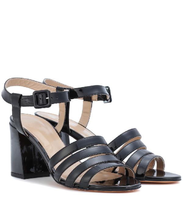 67238586e Maryam Nassir Zadeh Palma High Patent Leather Sandals In Black Paten ...