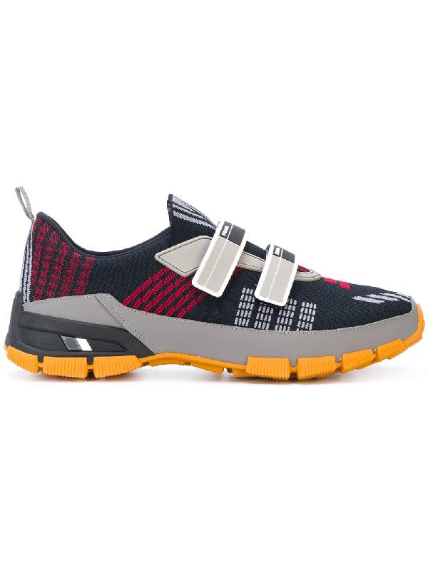 c83d7ac4b38fd6 Prada Men's Nylon Tech Sneakers With Double Grip-Strap, Black | ModeSens