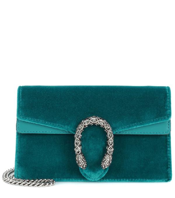515415ed9b2 Gucci Super Mini Dionysus Velvet Shoulder Bag In Blue