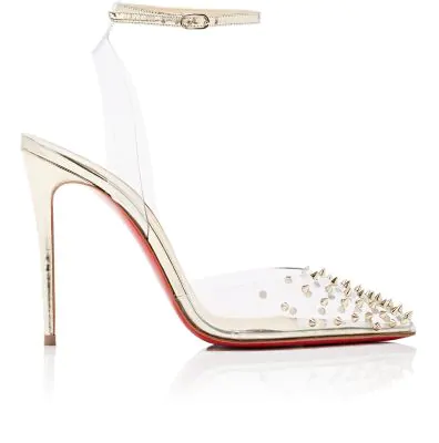 ffcc418a532e Christian Louboutin Spikoo Spiked Ankle-Wrap Red Sole Pumps In ...