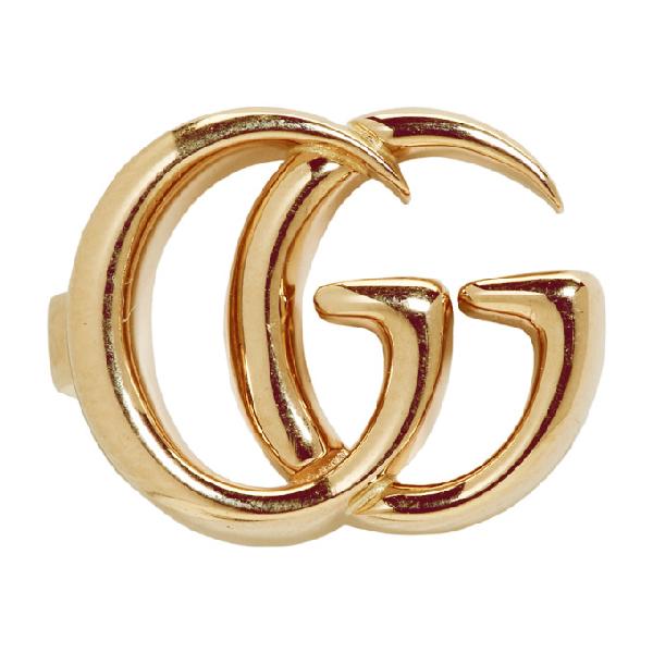 7f777acbd Gucci 18Kt Yellow Gold Gg Mono Ear Cuff | ModeSens