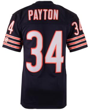 Men's Walter Payton Chicago Bears Replica Throwback Jersey In Navy/orange
