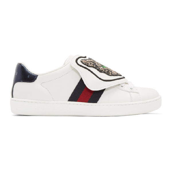 6f070016350 Gucci Ace Sneaker With Removable Patches In White