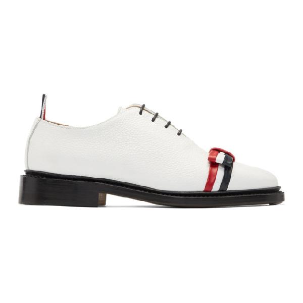 499381037e Thom Browne White Wholecut Bow Oxfords In 100 White | ModeSens